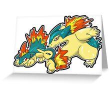 Johto Fire Starter Greeting Card