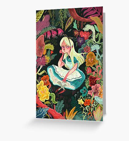 Alice in Wonder Greeting Card