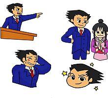 ace attorney by SpiralSoldier