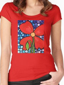 Lady in Red 2 Women's Fitted Scoop T-Shirt