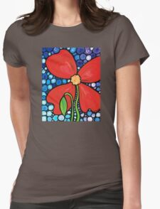 Lady in Red 2 Womens Fitted T-Shirt