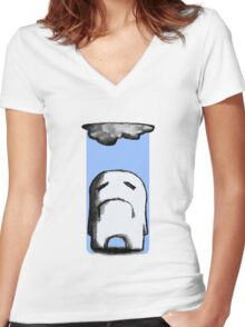 Gloomy Women's Fitted V-Neck T-Shirt