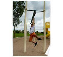 Boy At Playground Poster