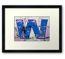 Blue W Framed Print