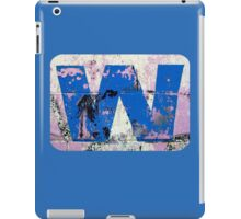 Blue W iPad Case/Skin