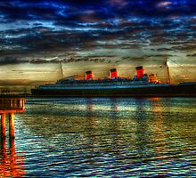 Queen Mary, Long Beach, California by David Rozansky