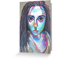 Oil Pastel Portrait Greeting Card