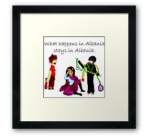 What Happens in Albania Stays in Albania Framed Print