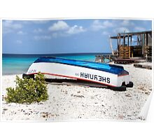 Bonaire. Old Boat Poster