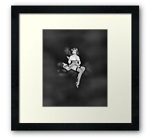 ReVaped Pin Up Greyscale Framed Print