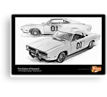 Dukes of Hazzard - 1969 Dodge Charger Canvas Print