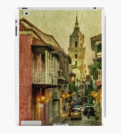 Vintage Grunge Urban View of Cartagena Architecture iPad Case/Skin