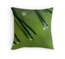 Needles and Drops Throw Pillow