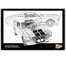Gone In 60 Seconds - 1967 Shelby Mustang GT500 Photographic Print