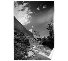 Montségur castle. Poster