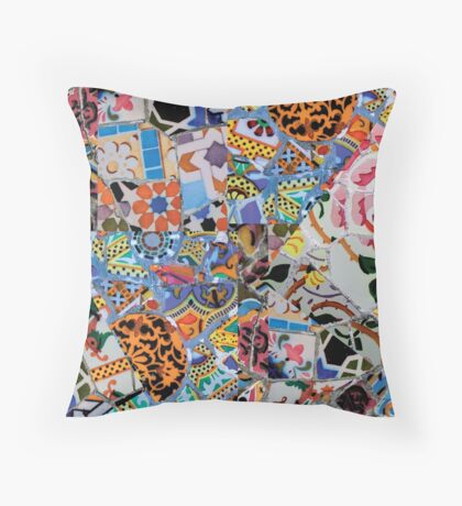 Gaudi Trencadís  Throw Pillow