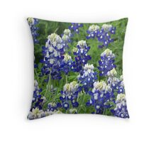 Bluebonnets (Lupinus texensis ) Throw Pillow