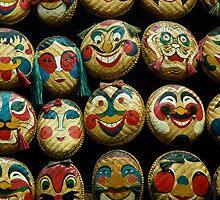 Hanoi Mask Wall by JohnKarmouche