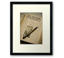 Birth of a legend (read on...) Framed Print