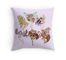 Winx Club Enchantix Throw Pillow
