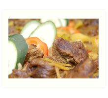 Food: Delicious Beef with Vegetables Art Print