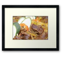 Food: Delicious Beef with Vegetables Framed Print