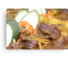 Food: Delicious Beef with Vegetables Canvas Print