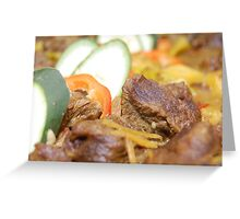 Food: Delicious Beef with Vegetables Greeting Card
