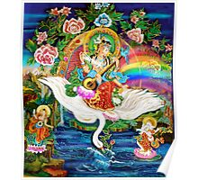 Om Saraswati ~ Protectress of the Arts ~ Sacred Art Poster