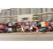 Young Girls Foot Race Photographic Print