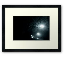 Walking at Night, New York City, USA Framed Print