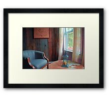 Easy Chair by the Window Framed Print