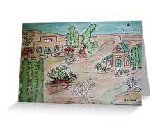 way out west Greeting Card
