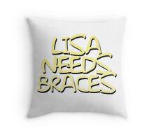 Lisa Needs Braces Throw Pillow