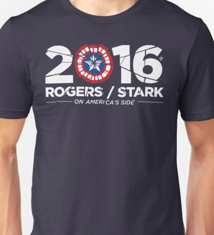 Rogers / Stark 2016: Broken Shield Edition Unisex T-Shirt