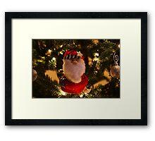 Christmas Tree Santa Framed Print