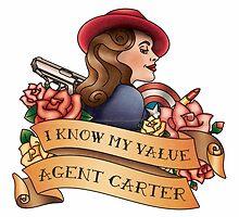 Agent Carter Vintage Tattoo Light by BonnieDetwiller