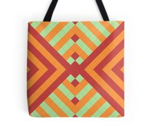 Retro mosaic in red and green Tote Bag