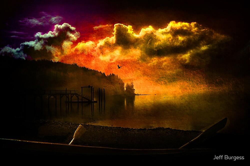 Darkness Falls at Hood Canal, Washington by Jeff Burgess