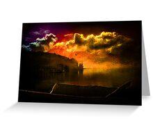 Darkness Falls at Hood Canal, Washington Greeting Card