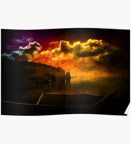 Darkness Falls at Hood Canal, Washington Poster