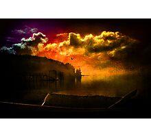 Darkness Falls at Hood Canal, Washington Photographic Print