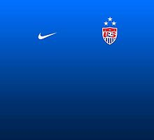 USWNT 2015 WWC Away Jersey Print (No Number) by seeaykay