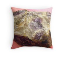 Amethyst  raw. Throw Pillow
