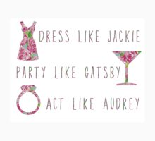 Lilly Pulitzer Inspired Jackie Gatsby Audrey Quote First Impression by mlr28blu