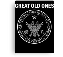 Seal of the Great Old Ones - White Canvas Print