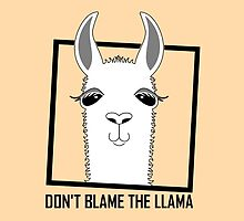 DON'T BLAME THE LLAMA by Jean Gregory  Evans