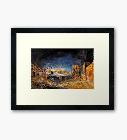 Egyptian Darkness Framed Print