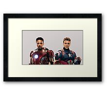 Iron Man and Captain America  Framed Print