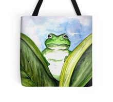 Peeping Frog  Tote Bag